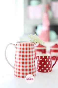 add strawberries to red gingham & red w/white polka-dots= heaven