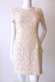 FRENCH CONNECTION Size 8 - 10 US 4 - 6 Short Sleeve Lace Mini Dress  #FrenchConnection #Shift