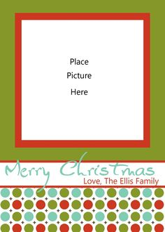 holiday card templates free