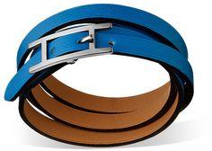 Hermes Hapi 3 Mm Bracelet in Blue