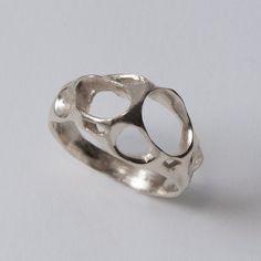 Bio H  Sterling Silver Ring Unisex ring wedding ring by doronmerav, $95.00