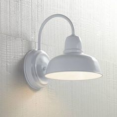Urban Barn 11 High White Indoor-Outdoor Wall Light - Lamps Plus Open Box Outlet Site Outdoor Wall Light Fixtures, Outdoor Sconces, Bathroom Light Fixtures, Barn Lighting, Outdoor Wall Lighting, Outdoor Walls, Indoor Outdoor, Lighting Ideas, Bathroom Lighting