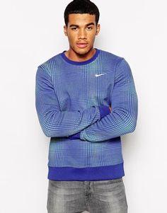 Nike Fleece Plaid Crew Sweatshirt Could be nice, depending what you're wearing it on