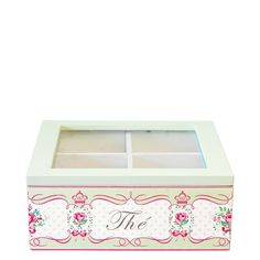 Greengate Teabox Square Amelie Green 18 x 18 x 7 cm | NEW! GreenGate Spring/Summer 2014 | Originated-Shop