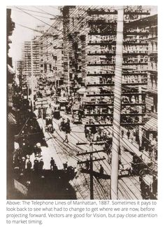 1887 Telephone lines in Manhattan