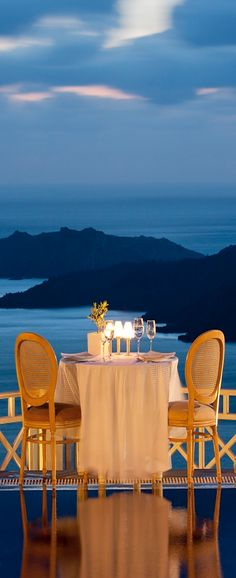 Dinner for two in Santorini, Greece