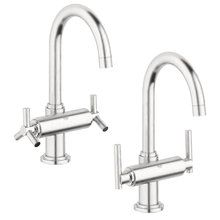 View the Grohe 21 027 Atrio Single Hole Bathroom Faucet with SilkMove and WaterCare Technologies - Includes Metal Pop-Up Drain Assembly at FaucetDirect.com.