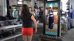 Kinect for Windows Retail Clothing Scenario Video.  This scenario video shows how a Kinect for Windows-enabled digital sign application makes it easy for shoppers to engage with products, try them on, and purchase while also using social media for additional marketing reach.