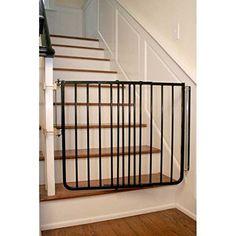 Stairway Special Hardware Mounted Pet Gate Black
