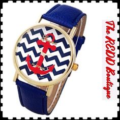 🌺SUMMER Sale🌺 💥TRENDING NOW💥Adorable Nautical Watch by GENEVA...End to End Measures 9 and 1/4 Inches Long...Adjustable Size and Battery Included‼️ 💥Poshmark NOW ACCEPTING PAYPAL💥 🚫TRADES‼️ PRICE IS FIRM‼️ Geneva Accessories Watches