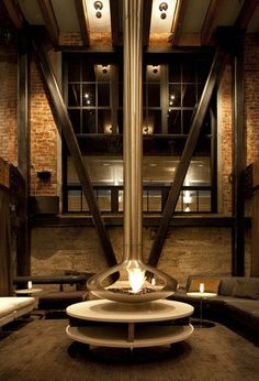 La cheminée au centre de vos espaces
