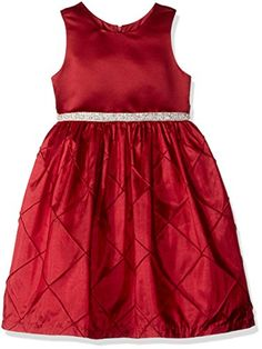 Jayne Copeland Little Girls Toddler Diamond Pleated with Bead Red 3T * Be sure to check out this awesome product.Note:It is affiliate link to Amazon.