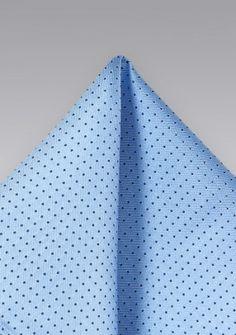 Punkte-Kavaliertuch himmelblau navyblau