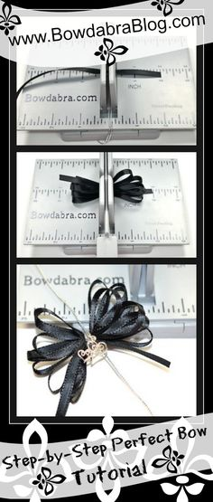 step by step Bowdabra bow tutorial - I have one of these. Maybe I'll try to use it again.