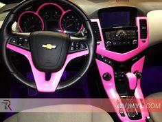 Diy car pink interior chevrolet dash kits custom dash trim custom pink dash kit vinyl wrap publicscrutiny Image collections