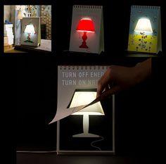 ¿Te gustaría disfrutar cada día de una lámpara diferente? Pasa página y verás un concepto totalmente ingenioso en diseño de lámparas de escritorio. Con forma de bloc de anillas, cada vez que pases una página, te encontrarás con un estilo diferente de lámpara.