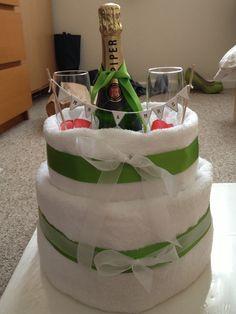 Wedding towel/nappy cake