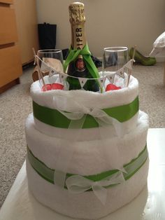 Wedding towel/nappy cake