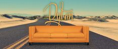Orange herringbone Dylan mid-century sofa, handcrafted in North Carolina by 'of Iron & Oak'. Furniture Inspiration, Design Inspiration, Mod Furniture, Mid Century Sofa, Tufted Sofa, Bench Cushions, The Rock, Love Seat, Iron