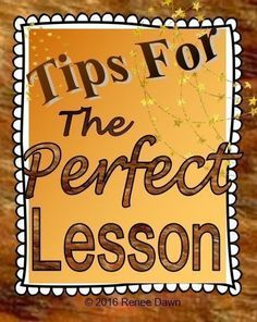 The perfect lesson; teacher evaluation guide for your best observation lesson ever.  Checklists, charts, cheat-sheets, teacher guides, tips, class posters, lesson plans and lesson plan templates for K ? 5.