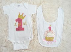 First Birthday Baby Girl Outfit-Baby Girl by MMFDiamondBaby