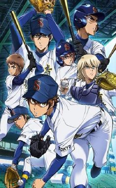 Diamond no Ace Act II Picking up the next year after the end of the fall tournament, Seidou High School baseball team battle it out with new and old faces. Episodes Series, Anime Episodes, All Episodes, One Punch Man, Takahiro Sakurai, Slice Of Life, All Anime, Manga Anime, Anime Art