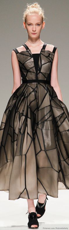 Bibhu Mohapatra | S/S 2014 love the ascetic of monochromatic stained glass inspired compartmentalization