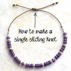 Crafty Video: How to Tie a Sliding Knot Bracelet