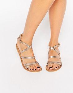 ASOS | ASOS FLUXE Leather Flat Sandals