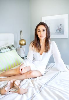 Fashion blogger Rumi Neely's chic bedroom