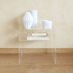Why Acrylic Home Decor Is The Trend We're Still Loving Acrylic Side Table, College House, Dream Apartment, Decorating Small Spaces, House Layouts, Zara Home, Floating Nightstand, Decor Styles, Home Improvement