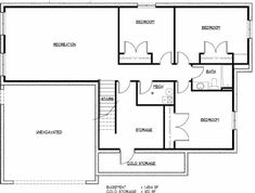Basement floor plan High Quality Finished Basement Plans  5 Finished Walk Out Basement  . Basement Floor Plan Layout. Home Design Ideas