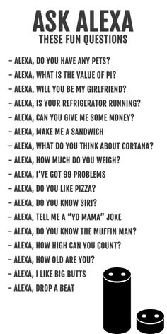 Funny things to ask / do with Alexa Sleepover Party Games, Things To Do At A Sleepover, Crazy Things To Do With Friends, Fun Sleepover Ideas, Things To Ask Siri, Teen Sleepover, Things To Do At Home, Stupid Funny Memes, Haha Funny