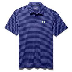 Under Armour Mens ColdBlack Address Stripe Polo Shirt: Product Features 82% Nylon / 18% Elastane Yarn-Dye Fabric… #GolfApparel #GolfShoes