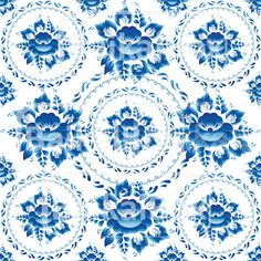Illustration about Gzhel Seamless ornament pattern with blue flowers and leaves. Illustration of blossom, national, draw - 44630965 Ornament Pattern, Russian Folk Art, Leaves Vector, Cotton Quilting Fabric, Background Vintage, Texture Art, Free Vector Art, Pattern Art, Blue Flowers