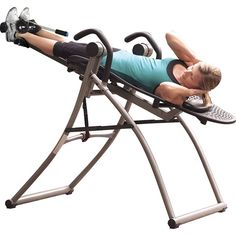 The Teeter Hang Ups Contour L5 Inversion Table counteracts the forces of gravity on your spine to provide relief.