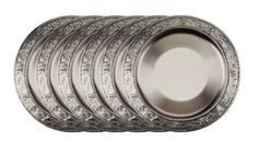 Old Dutch Embossed Victoria Charger Plates, 13-Inch, Antique Pewter, Set of 6 Old Dutch http://www.amazon.com/dp/B00BBU4DE2/ref=cm_sw_r_pi_dp_rr8vwb1XQ8D59