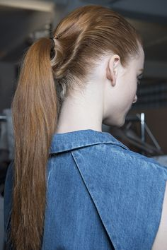 Loosely sculpted ponytail for an East meets West hair look at @JosephFashion by Eugene Souleiman #lfw #JosephLFW