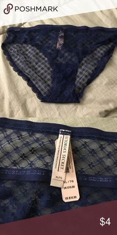 Victoria's Secret Panty Brand new, never worn, with tags. Victoria's Secret navy blue lace bikini panty. Victoria's Secret Intimates & Sleepwear Panties