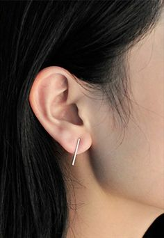 Linear Sterling Silver Earrings