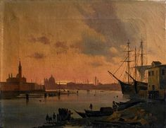 Caffi, Ippolito (1809-1866) - Great Bay San Marco, Venice (Christie's Milan, 2007)   Oil on canvas;    38 x 49 cm.  Ippolito Caffi was an Italian painter of architectural subjects and seascapes or urban vedute. He was born at Belluno. His first work was produced at the Accademia in Venice. He subsequently moved to Rome, made some reputation by his treatise on perspective, as well as by his investigations on Roman archaeology. In 1843 he visited Greece and the East. The