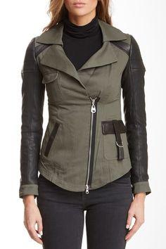 Doma Leather Utility Jacket