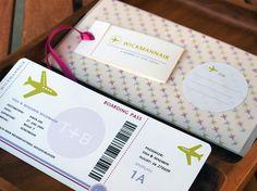Boarding Pass - Hochzeitskarte für Geldgeschenke