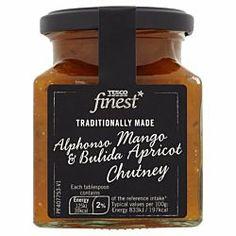 Tesco Finest Mango Apricot And Coriander Chutney Cooking Sauces, Coriander, Chutney, Whiskey Bottle, Mango, Drinks, Recipes, Food, Manga