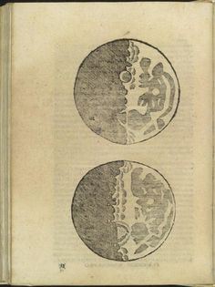 // Galileo's first drawing of the moon