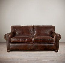 """60"""" Lancaster Leather Sofa. I would never get out of this sofa."""