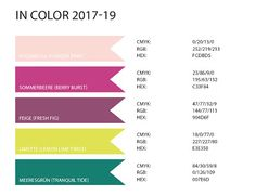 Stampin Up Rosa Madchen Kulmbach Farbwerte Der Neuen InColor Farben 2017 19