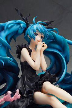 Neko Magic: Anime & Figure News - Vocaloid 2 – Hatsune Miku Deep Sea Girl Ver. PVC figure by Good Smile Company Hatsune Miku Songs, Vocaloid, Bright Blue Eyes, Tokyo Otaku Mode, Anime Figurines, Mode Shop, Good Smile, Figure Model, Statue