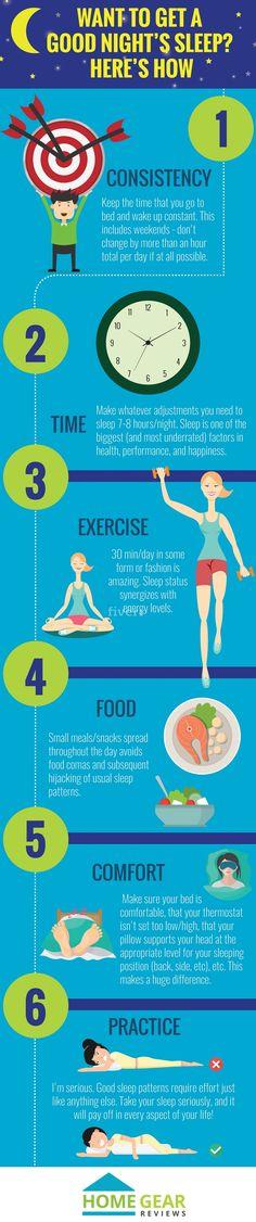 6 Simple Tips to Improve Your Quality of Sleep #Infographic #Health #Sleep