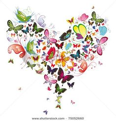butterfly artwork - Butterfly heart, valentine illustration Element for design Canvas Print Butterfly Artwork, Butterfly Background, Butterfly Canvas, Butterfly Bush, Butterfly Wedding, Butterfly Flowers, Butterfly Design, Butterfly Print, Valentinstag Poster
